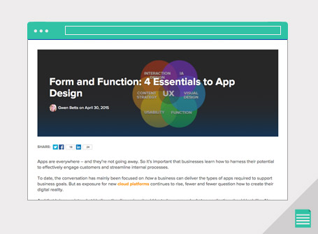 Form and Function: 4 Essentials to App Design